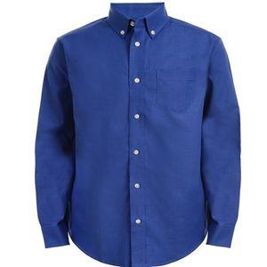 CHAPS Big Boys Blue Oxford Long Sleeve Size 16